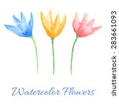 hand painted watercolor flowers....