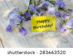 happy birthday card with... | Shutterstock . vector #283663520