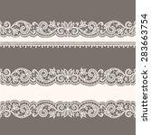 lace ribbons. horizontal...   Shutterstock .eps vector #283663754
