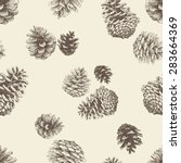 pattern of the pine cones | Shutterstock .eps vector #283664369
