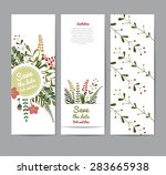 set of floral greeting cards...   Shutterstock .eps vector #283665938