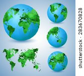 set of the world globes. world... | Shutterstock .eps vector #283670828