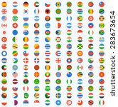 flag of world. vector icons | Shutterstock .eps vector #283673654