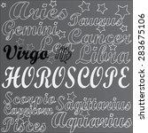 horoscope. virgo. | Shutterstock .eps vector #283675106