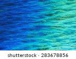 fantastic blue sea background.... | Shutterstock . vector #283678856