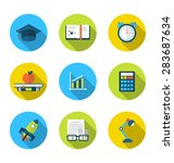 illustration flat icons of... | Shutterstock . vector #283687634