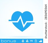 heart cardiology icon | Shutterstock .eps vector #283690364
