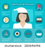 sleep time infographics with... | Shutterstock .eps vector #283696496