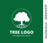 circle tree vector logo design | Shutterstock .eps vector #283696559