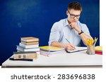 student  studying  human