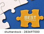 gold puzzle written with 'best...   Shutterstock . vector #283697000