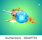 vector illustration of funky... | Shutterstock .eps vector #28369753