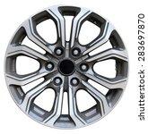 car wheel  car alloy rim on... | Shutterstock . vector #283697870