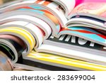 stack of magazines | Shutterstock . vector #283699004