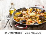 Vegetable Paella With Seafood...