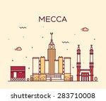 mecca skyline detailed... | Shutterstock .eps vector #283710008