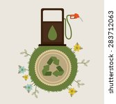 think green design over white... | Shutterstock .eps vector #283712063