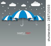 umbrella blue and rain ... | Shutterstock .eps vector #283715333