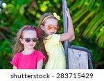 adorable little girls during...   Shutterstock . vector #283715429