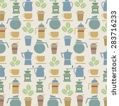 coffee lover background vector... | Shutterstock .eps vector #283716233