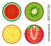 fruits collection. vector icons. | Shutterstock .eps vector #283722734