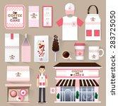 vector restaurant cafe set... | Shutterstock .eps vector #283725050