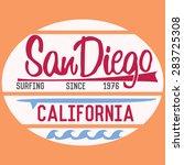 california san diego typography ... | Shutterstock .eps vector #283725308