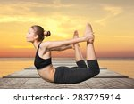 yoga  human  meditating. | Shutterstock . vector #283725914