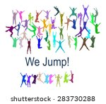 hurray team team achievement.... | Shutterstock .eps vector #283730288