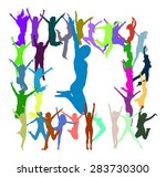 win win together we celebrate.... | Shutterstock .eps vector #283730300