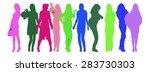 illustration many vector people ... | Shutterstock .eps vector #283730303
