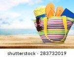 summer  bag  isolated. | Shutterstock . vector #283732019