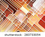 abstract geometric mosaic... | Shutterstock .eps vector #283733054