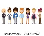 set of diverse business people... | Shutterstock .eps vector #283733969