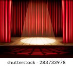 a theater stage with a red... | Shutterstock . vector #283733978