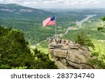 chimney rock at chimney rock... | Shutterstock . vector #283734740