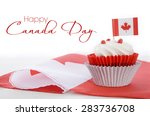 happy canada day celebration... | Shutterstock . vector #283736708