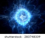 Blue Glowing Ball Lightning ...