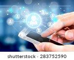 mobile phone  smart phone ... | Shutterstock . vector #283752590