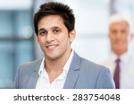 portrait of businessman with... | Shutterstock . vector #283754048