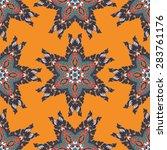 seamless pattern ethnic style.... | Shutterstock .eps vector #283761176
