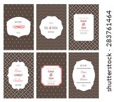 set of wedding cards. located... | Shutterstock .eps vector #283761464