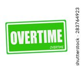 Overtime White Stamp Text On...