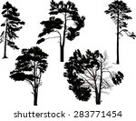 illustration with trees set... | Shutterstock .eps vector #283771454