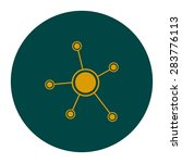 social network single icon.... | Shutterstock .eps vector #283776113
