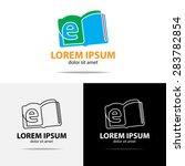 e book logo design by using... | Shutterstock .eps vector #283782854