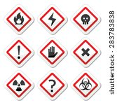 danger  warning  attention... | Shutterstock .eps vector #283783838