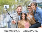 group of friends taking picture ... | Shutterstock . vector #283789226