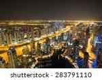 dubai marina by night. dubai... | Shutterstock . vector #283791110