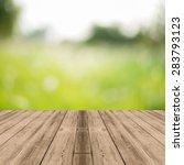perspective brown wood over... | Shutterstock . vector #283793123